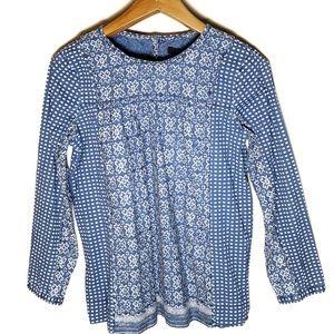 J.Crew blue shirt long sleeves  sz 8